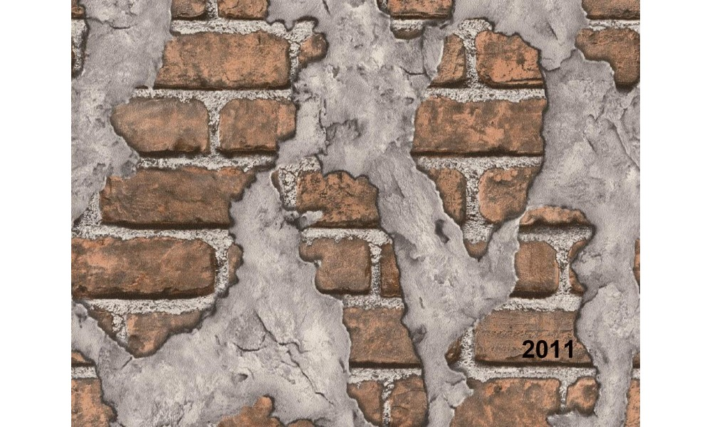 3D TUĞLA SIVA DESENLİ DUVAR KAĞIDI 2011