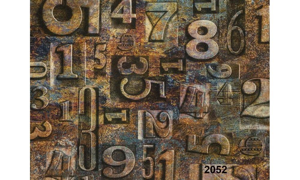 RAKAM DESENLİ DUVAR KAĞIDI 2052