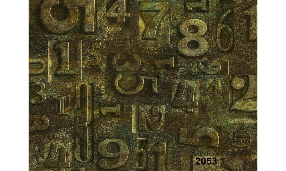 RAKAM DESENLİ DUVAR KAĞIDI 2053