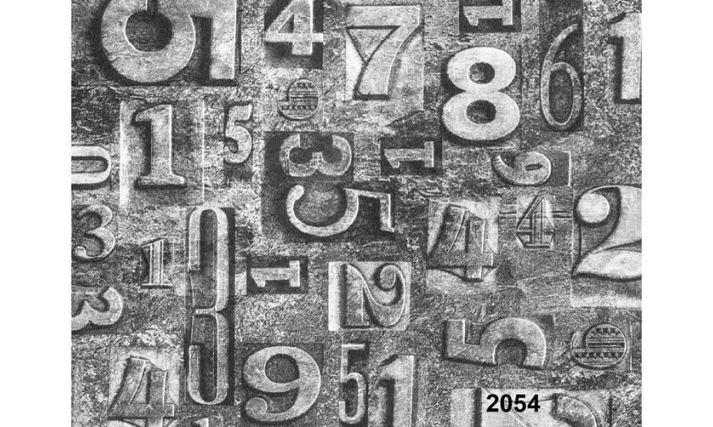 RAKAM DESENLİ DUVAR KAĞIDI 2054