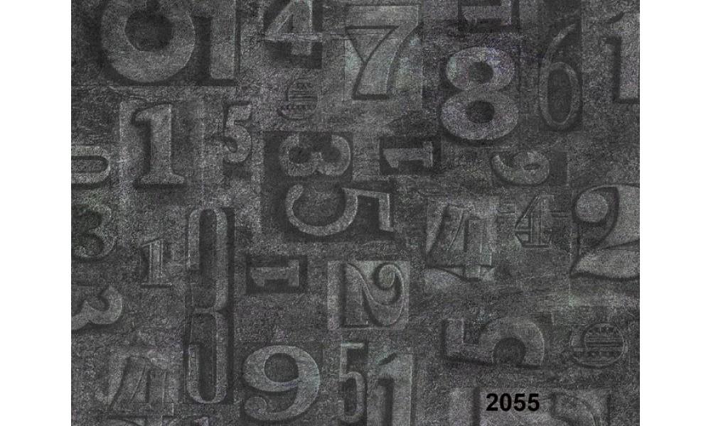 RAKAM DESENLİ DUVAR KAĞIDI 2055