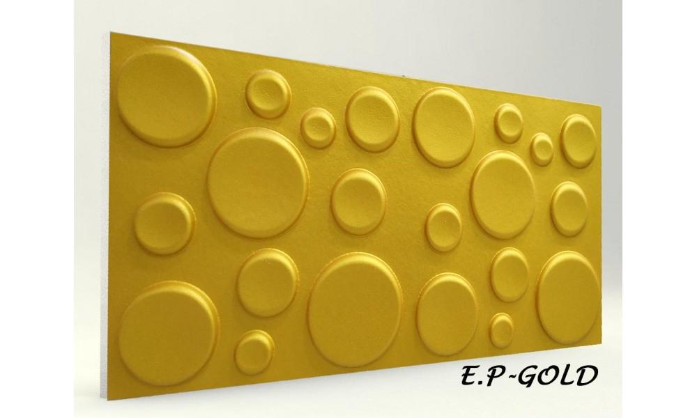 3D ELİPS PANEL GOLD