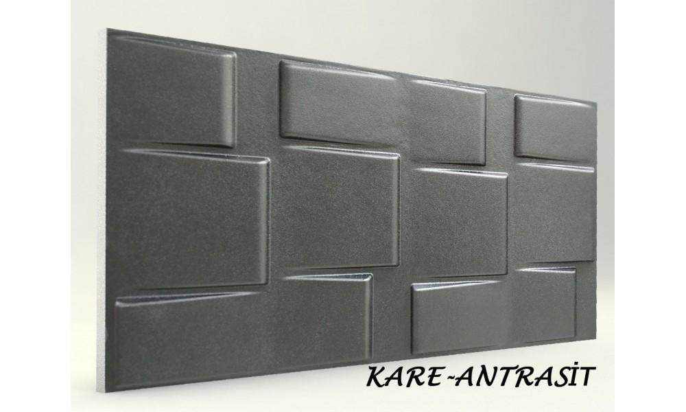 3D KARE PANEL ANTRASİT
