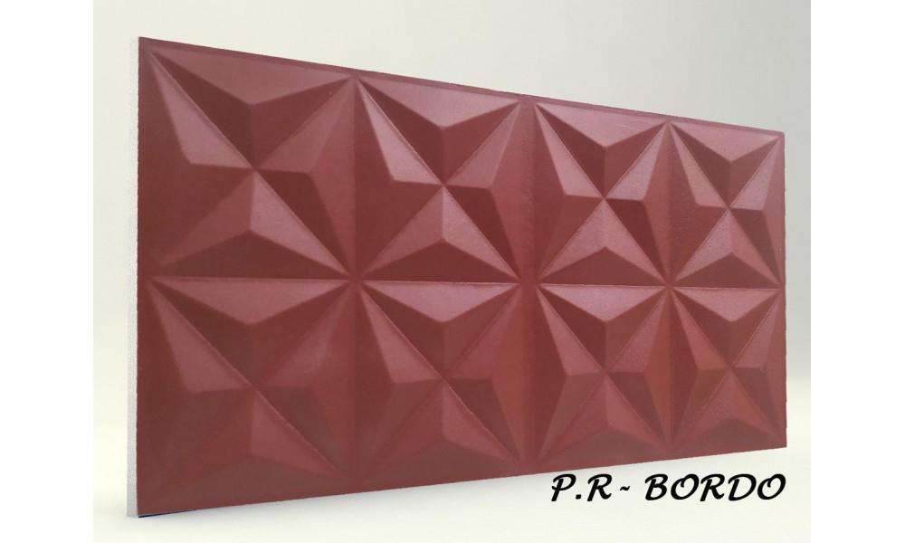3D PİRAMİT PANEL BORDO