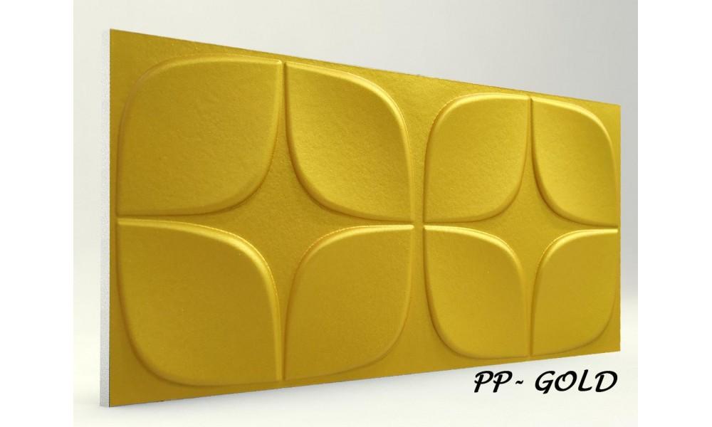 3D PAPATYA PANEL GOLD